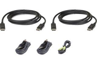 ATEN 2L-7D02UDPX5 CABLE KVM Dual DisplayPort USB audio - 1,8m