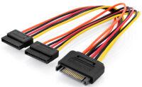DIGITUS Câble d'alimentation interne en Y, SATA 15 broches