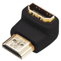 DIGITUS Adaptateur HDMI courbé à 90 degrés, HDMI-A
