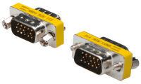 DIGITUS Mini changeur de genre, 15 broches Sub-D
