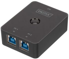 DIGITUS Commutateur de partage USB 3.0, 2x USB-B - USB-A