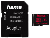 hama Carte mémoire Micro SecureDigital HC, Classe 3, 128 Go