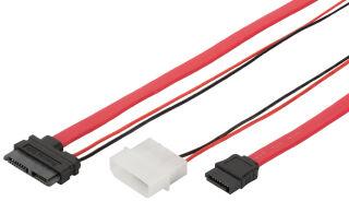 DIGITUS Câble de raccordement Serial ATA, Slimline