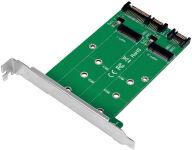 LogiLink Carte d'interface 2x SATA - 2x M.2 SATA SSD
