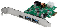 LogiLink Carte PCI Express USB 3.2, 3 ports, 5 GBit/sec.