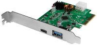LogiLink Carte PCI Express USB 3.2, 2 ports, 10 GBit/sec.