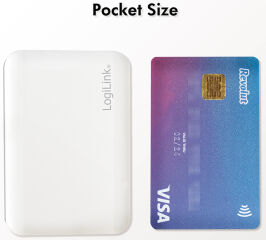 LogiLink Batterie externe mobile, 3.000 mAh, 1x USB, blanc