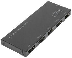 DIGITUS Répartiteur HDMI extra-plat, 1x4, 4K/60 Hz, noir
