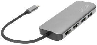 DIGITUS Station d'accueil universelle USB-C, 8 ports