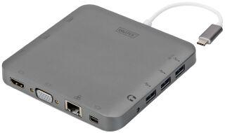 DIGITUS Station d'accueil universelle, 11 ports, USB-C, gris