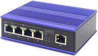 DIGITUS Commutateur Gigabit industriel PoE Switch, 4 ports