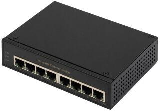 DIGITUS Commutateur Gigabit Ethernet industriel, 8 ports