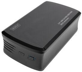 DIGITUS Boîtier 3,5' USB 3.0 SSD/HDD RAID SATA, noir