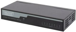 DIGITUS Commutateur de bureau Fast Ethernet, 8 ports