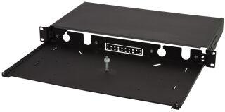 LogiLink Façade pour tiroir optique 19', 24 ports, noir