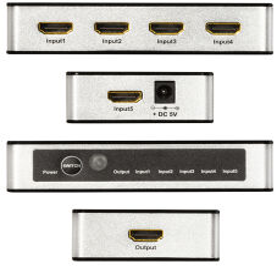LogiLink Commutateur HDMI 4K/60Hz, 5 ports, noir/argent