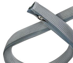 LogiLink Gaine pour câble avec fermeture éclair, 2,0 m, gris